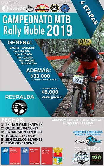 Puntajes Campeonato MTB Rally Ñuble 2019
