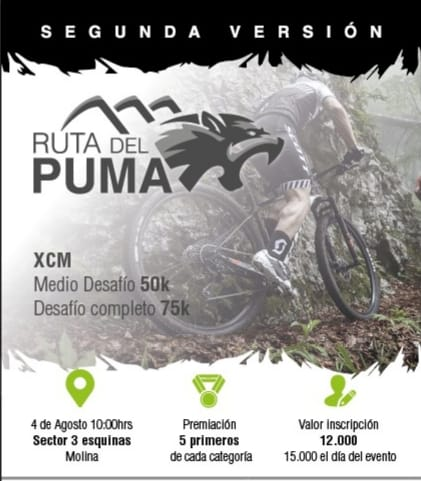 Segunda Versión XCM Ruta del Puma - Molina