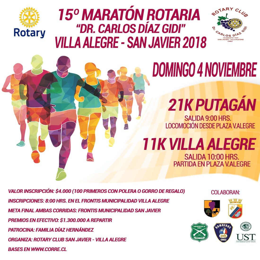 Maratón Rotaria Dr. Carlos Díaz Gidi - Villa Alegre