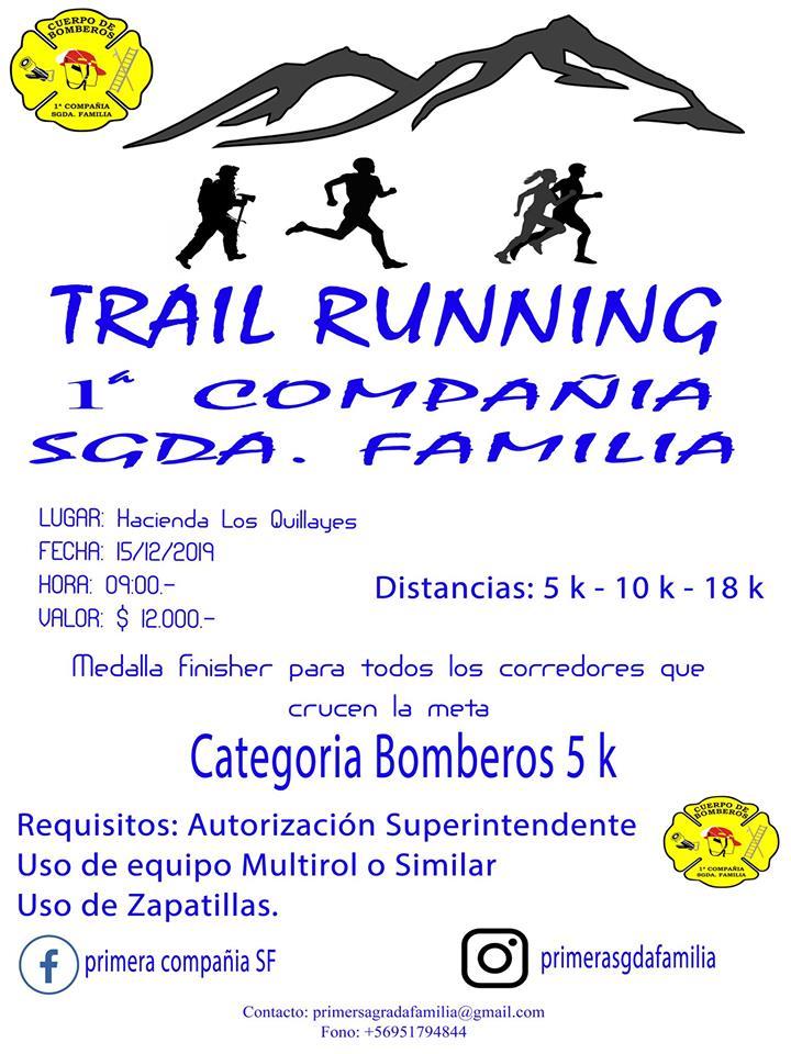 2o Trail Primera Compañia Bomberos Sagrada Familia