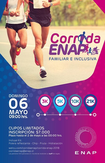 Corrida Familiar e Inclusiva Enap 2018