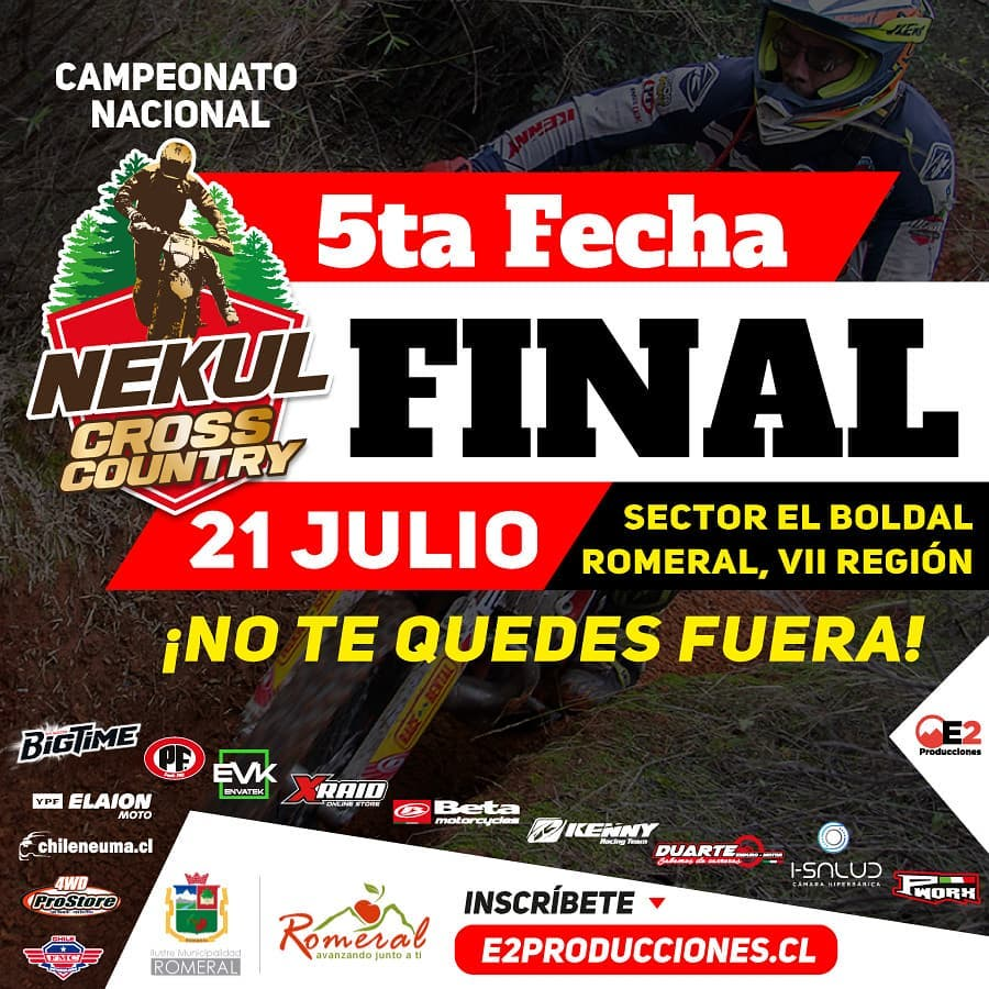 Enduro Nekul Quinta fecha y FINAL