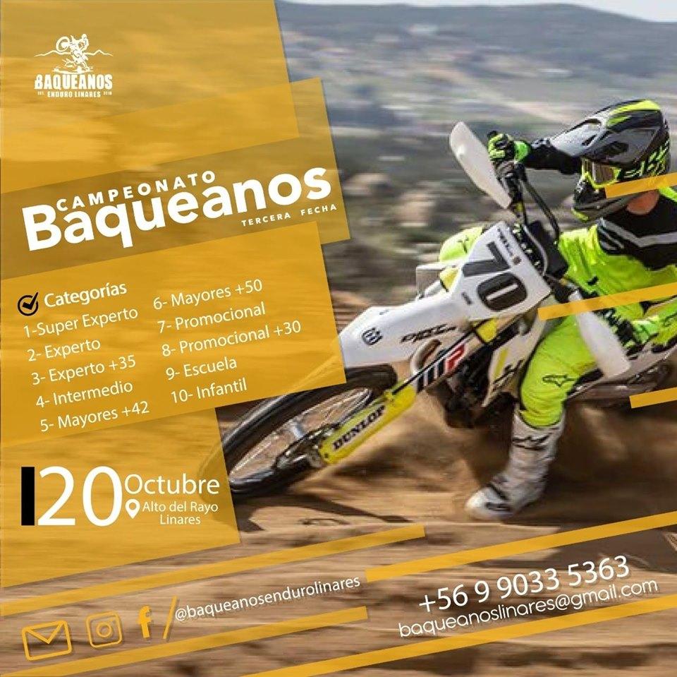 Tercera Fecha Campeonato Enduro Baqueanos Linares 2019